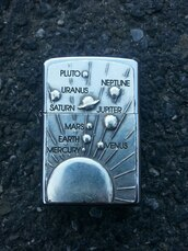 jewels,jewelry,lighter,earphones,silver,planets,acessories,zippo,fire,home accessory,briquet,metallic,metal,metal zippo,space