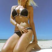swimwear,bikini,bikini top,bikini bottoms,black bikini,bandeau swimsuit,instagram,mylovelythisandthat  facebook,women,wow,beach,beautiful