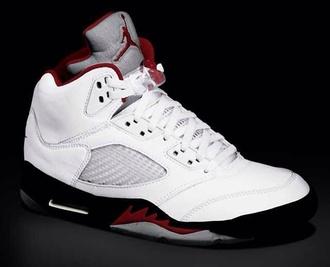 shoes jordans white black burgundy