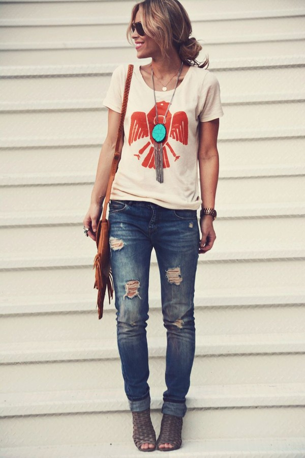 jewels turquoise necklace long necklace this shirt i saw on pintrest! shirt blouse t-shirt boho eagle beige t-shirt