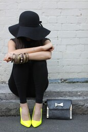 shoes,yellow shoes,neon,court shoes,accessories,bangle