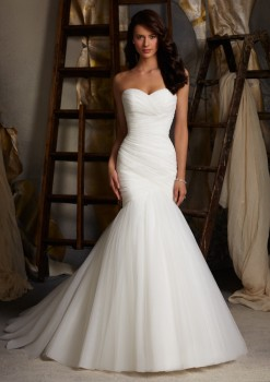 Blu by Mori Lee 5108 Simple Mermaid Wedding Dress