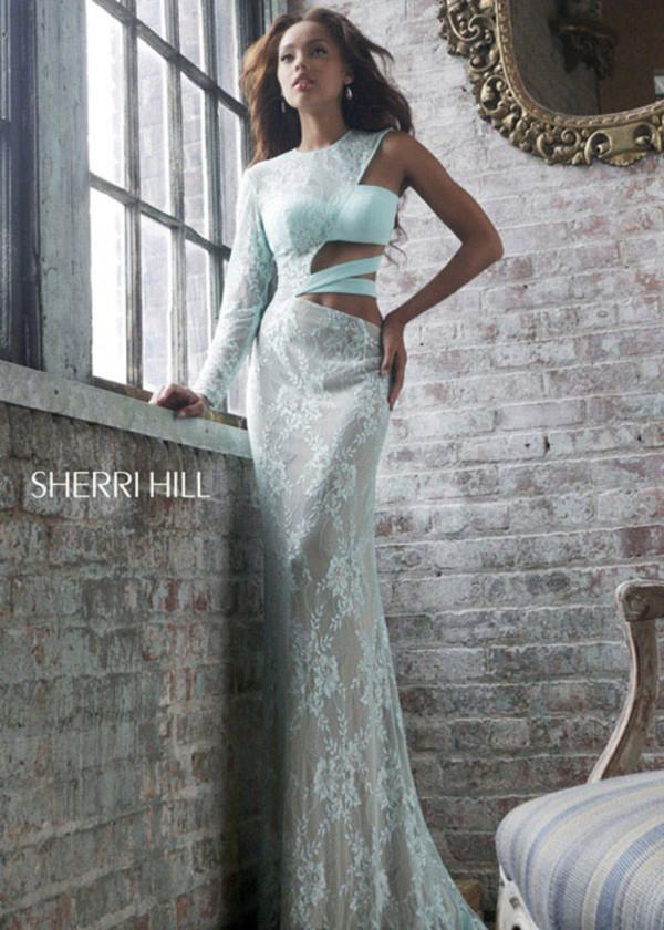 dress long sleeve dress one shoulder bodycon dress long dress