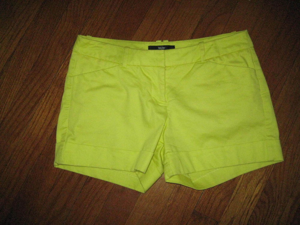 Mossimo Target Size 2 Fit 3 Pastel Yellow Shorts Neon | eBay