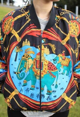 jacket bomber jacket kimono elephant asos oversized jacket india love