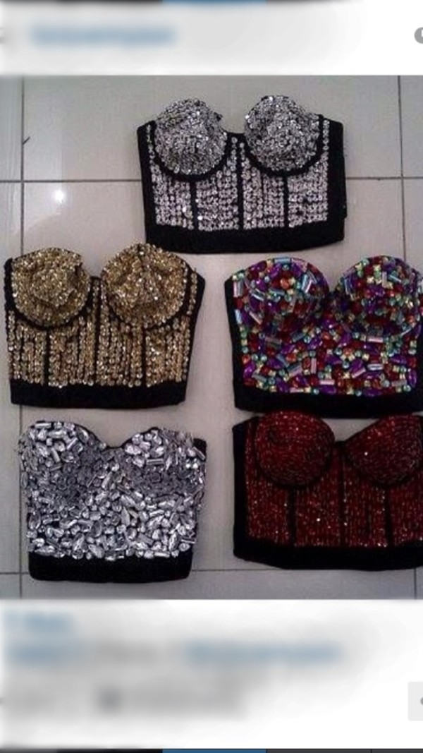 shirt sequin bustiers sequins bustier crop tops swimwear