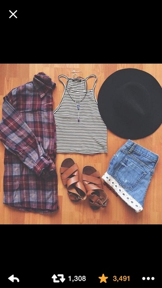 shoes brown sandals brown shoes sandals tank top hat