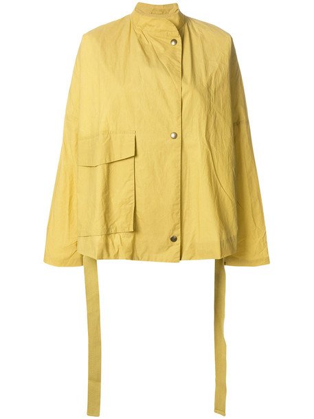 humanoid jacket women cotton yellow orange