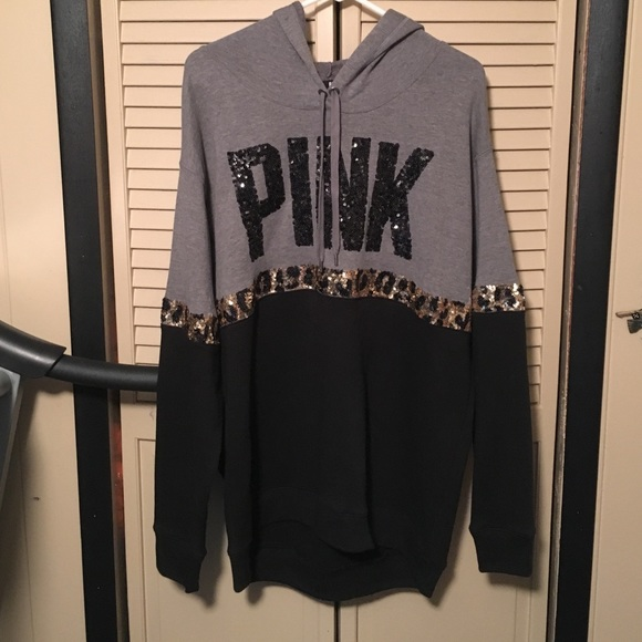 f9903b51758a PINK Victoria's Secret - NWOT VS PINK Bling Cheetah Hoodie from Jenna's  closet on Poshmark