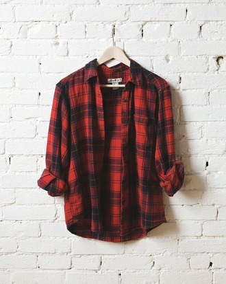 shirt flannel shirt grunge hipster red flannel shirt