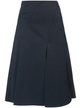 skirt high women spandex blue