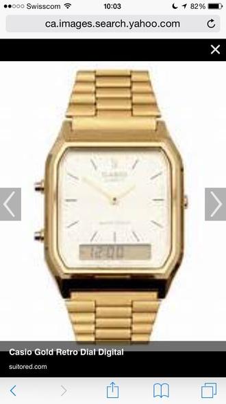 jewels casio watch vintage gold casio watch