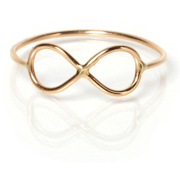 Zoe Chicco Collection 14k Gold Tiny Infinity Ring Yellow Gold - Polyvore
