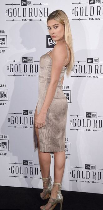 dress bodycon dress slit dress midi dress prom dress hailey baldwin bustier bustier dress sexy dress sandals sandal heels