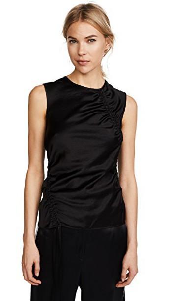 T by Alexander Wang top asymmetrical top asymmetrical black