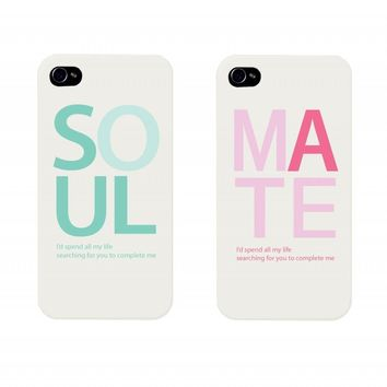 SOUL MATE Couples Matching Cell Phone Cases for iphone 4, iphone 5, iphone 5C, Galaxy S3, Galaxy S4, Galaxy S5 on Wanelo