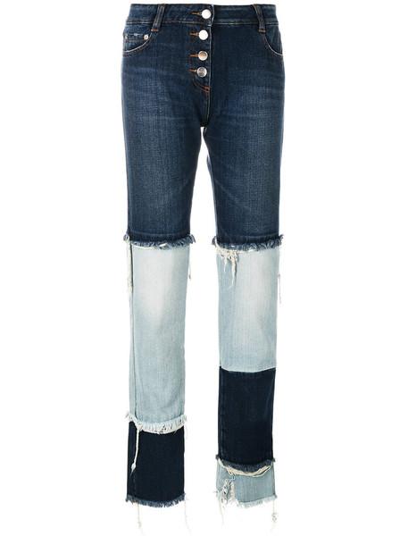 Each X Other - two-tone jeans - women - Cotton - 30, Blue, Cotton