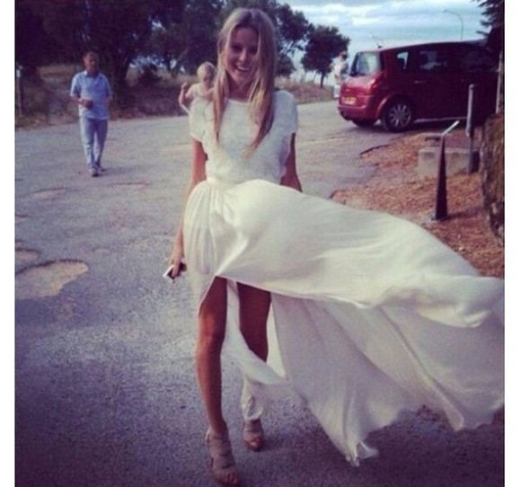 dress white dress lace chiffon prom dress long prom dresses summer maxi maxidress floral tu tumblr girl