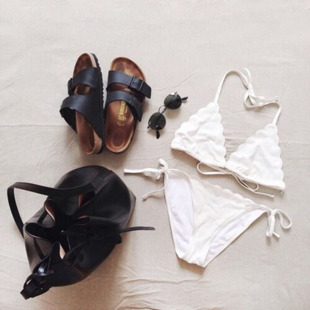 swimwear white bikini white swimwear bikini style white string bikini white halter bikini