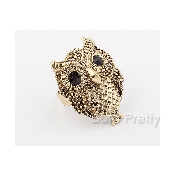 $2.45 Vintage Owl Shaped Ring Classical Gothic Ring - BornPrettyStore.com