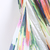 Multicolor Strapless Graffiti Print Chiffon Dress - Sheinside.com