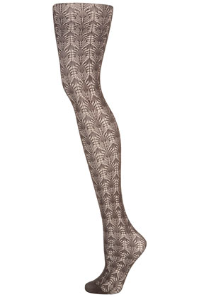 Grey fine pointelle tights