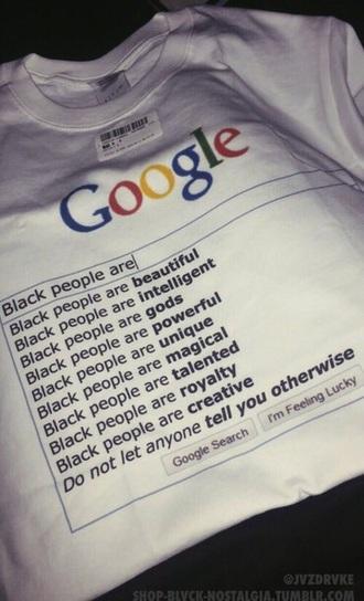 shirt google t-shirt black people are