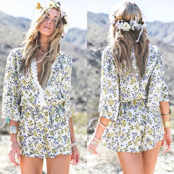 romper girl girly girly wishlist floral romper