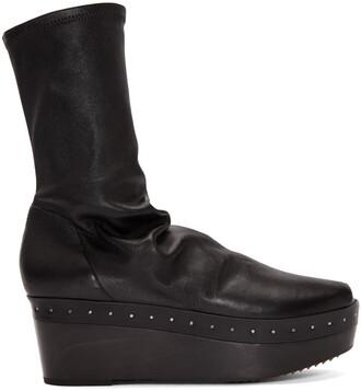 sock boots black shoes