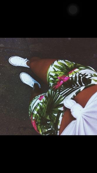 shorts pants summer shorts flowered shorts
