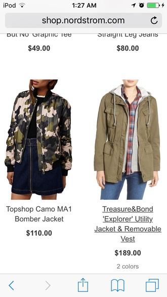 jacket bomber jacket camouflage