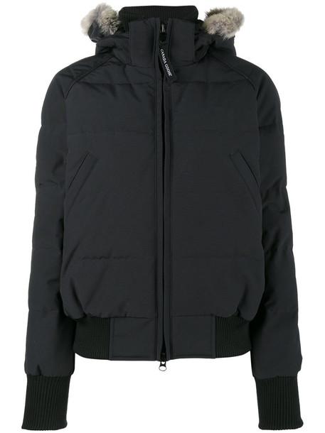 canada goose jacket bomber jacket women cotton blue