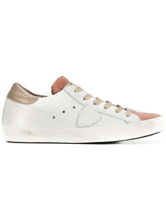 paris women sneakers leather white cotton shoes