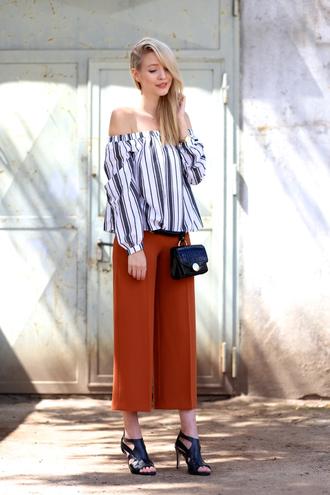 ohh couture blogger blouse pants shoes belt bag jewels