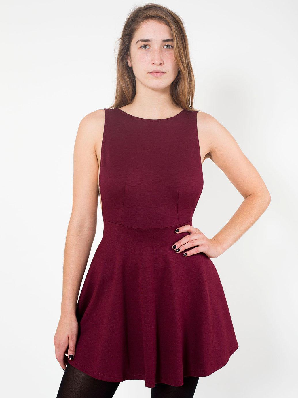 Ponte sleeveless skater dress