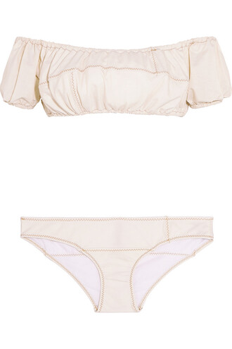 bikini denim cream swimwear