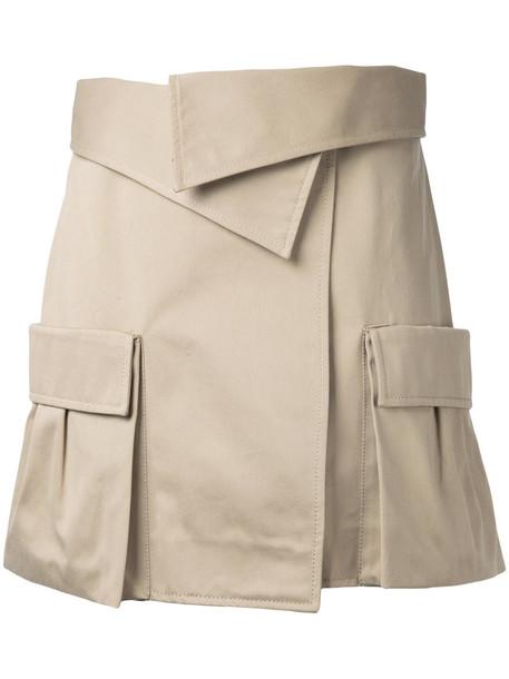 Monse skirt women cotton brown