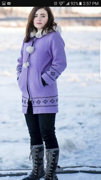 coat vintage parka eskimo