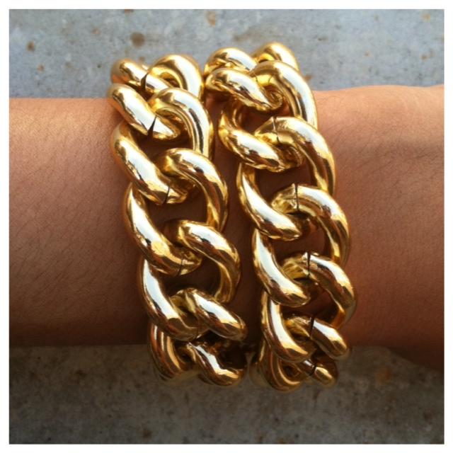 Fabulous Glam Gold Chain Bracelet- Tanya Kara Jewelry