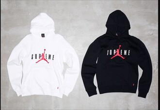 sweater supreme jordan supreme sweater hoodie air jordan white black
