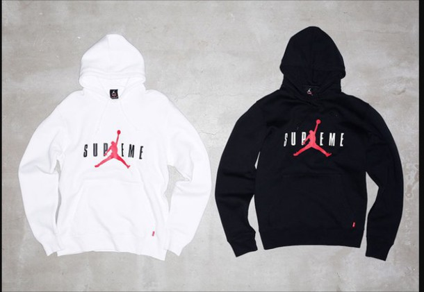premium selection f82b4 1f6f1 sweater, supreme, air jordan, hoodie, white, black - Wheretoget