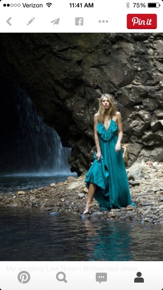 dress lisa brown dress blue dress boho boho chic prom dress