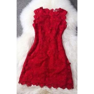 dress red dress lace dress fitted dress