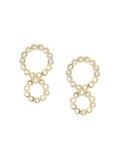 Ca & Lou women earrings grey metallic jewels