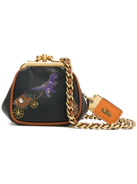coach women bag purse leather black