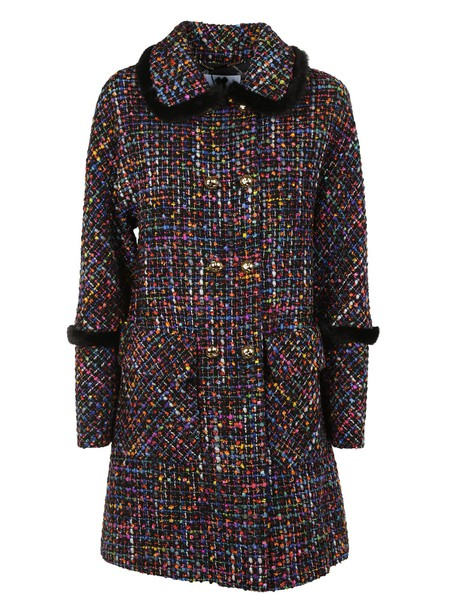 coat double breasted multicolor