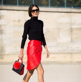skirt asymmetrical skirt red red skirt asymmetrical burgundy midi midi skirt summer outfits party outfits sexy sexy outfit fall outfits fall skirt classy elegant cute girly date outfit romantic clubwear leather skirt wedding guest wedding clothes celebrity style dope