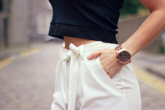 the little magpie blogger pants shoes jewels classy white pants