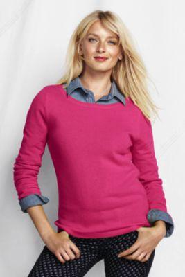 Women's Year Round Cashmere Balletneck Sweater from Lands' End