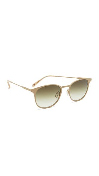 metal sunglasses beige